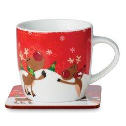 """Kalėdinis puodelis su padėkliuku """"Ren Mug"""""""