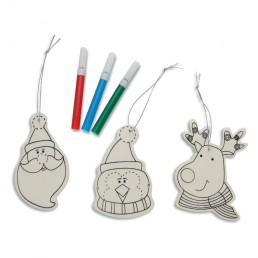 """Kalėdiniai žaisliukai, kuriuos galima nuspalvinti """"Colotag"""""""